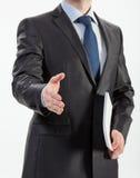 Businessman offering handshake Royalty Free Stock Photos