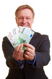 Businessman offering instant credit Royalty Free Stock Photos