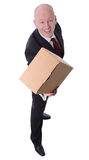 Businessman parcel Royalty Free Stock Photo