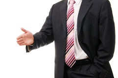 Businessman offering to shake your hand. Stock Images