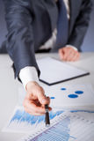 Businessman offering to sign a document Stock Images