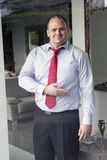 Businessman offers a friendly welcome Stock Photography