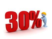 Businessman offers a 30 percentage. 3d image renderer Stock Image