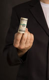 Businessman offers you money Royalty Free Stock Images
