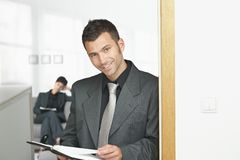 Businessman at office Stock Photos