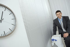 Businessman at office Royalty Free Stock Image