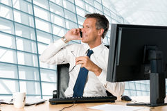 Businessman in office Royalty Free Stock Photo