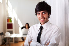 Businessman at the office Stock Image