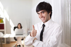 Businessman at the office Stock Images