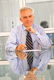 Businessman in office Stock Images