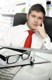 Businessman at office Stock Photos