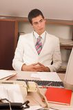 Businessman at office Stock Photography