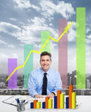 Businessman in the office. Royalty Free Stock Image