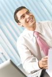 Businessman at office Royalty Free Stock Images