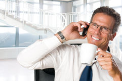 Businessman in office Stock Image
