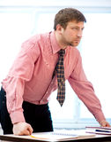 Businessman in the office Stock Photo
