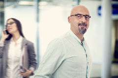 Businessman in office Royalty Free Stock Image