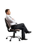 Businessman on the office chair Royalty Free Stock Photo