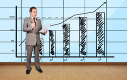 Businessman in office Royalty Free Stock Photography