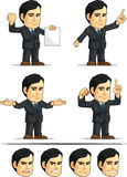 Businessman or Office Executive Customizable Masco Stock Image