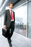 Businessman at office exterior Stock Photo