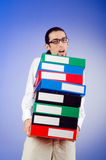 Businessman with  office folders Stock Photo