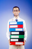 Businessman with  office folders Royalty Free Stock Photo