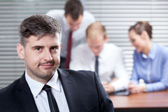 Businessman in the office Royalty Free Stock Photo