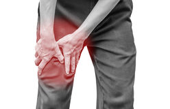 Businessman office man with leg calf pain Royalty Free Stock Photo