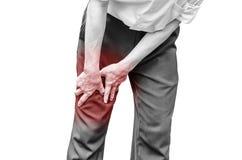 Businessman office man with leg calf pain Stock Photography