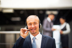 Businessman in the office on the phone Royalty Free Stock Photography