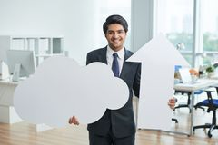 Businessman at office Stock Images