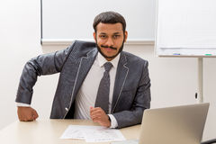 Businessman in office. Royalty Free Stock Photos