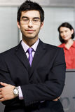 Businessman at office reception Stock Photo