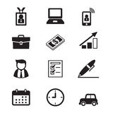Businessman and office tools. Vector illustration graphic design royalty free illustration