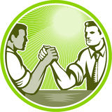 Businessman Office Worker Arm Wrestling Stock Photography