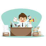 Businessman on office worker vector illustration Royalty Free Stock Images