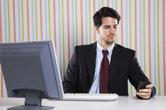 Businessman at the office working Royalty Free Stock Photo