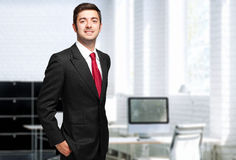 Businessman in the office Royalty Free Stock Image