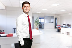 Businessman in the office Stock Photography