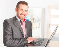 Businessman in the office Royalty Free Stock Photos