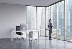 Businessman in the office Stock Photos