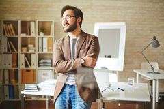 Businessman at office Royalty Free Stock Photo