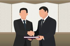 A businessman, an official, a politician.Handshake, conclusion of a successful deal. A successful deal. Two men shake hands Stock Photos