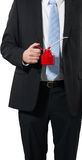 Businessman with an oil can Royalty Free Stock Images