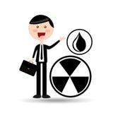 Businessman oil concept contamination sign. Vector illustration eps 10 Stock Photos