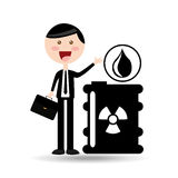Businessman oil concept radioactive material Stock Photos