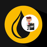 Businessman oil industry barrel icon. Vector illustration eps 10 stock illustration