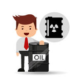 Businessman oil industry nuclear barrel Royalty Free Stock Photography