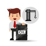 Businessman oil industry oil rig Royalty Free Stock Photo
